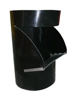 RUBBISH CHUTE SIDE HOPPER BLACK